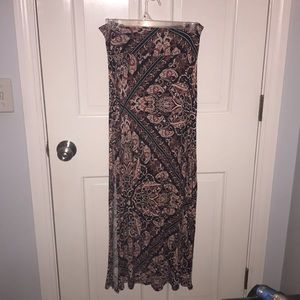 Printed maxi skirt, Charlotte Russe, xs